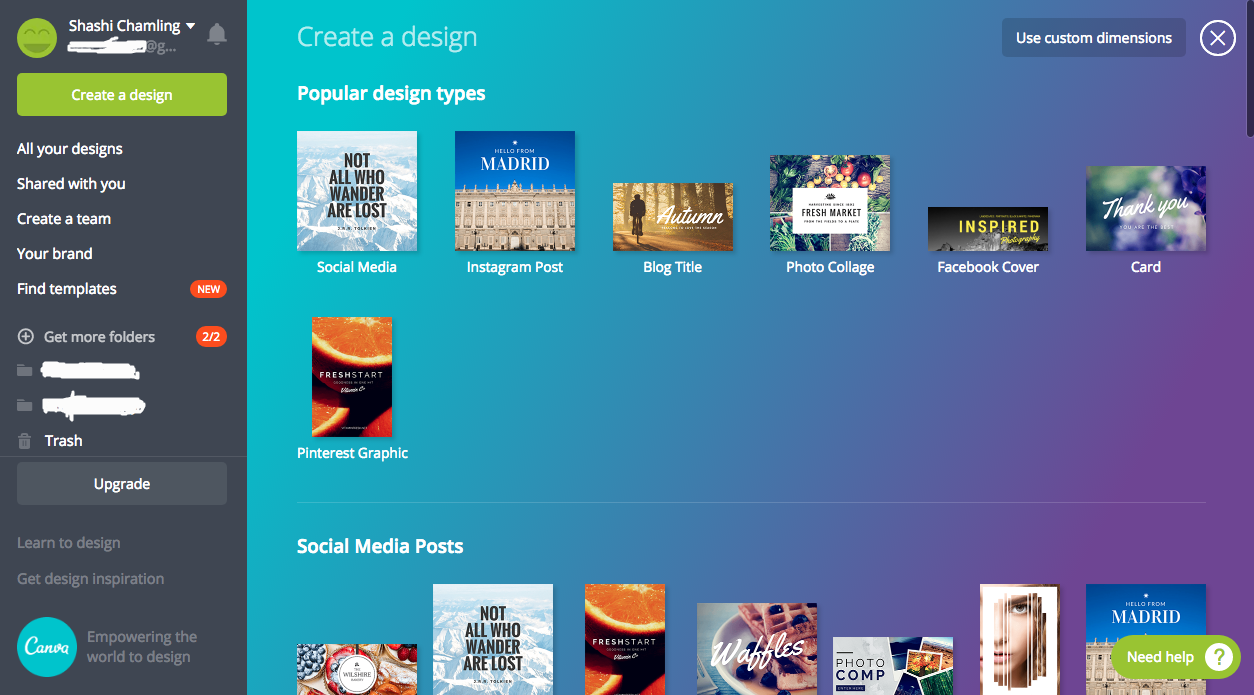 beginners guide to creating graphics using Canva